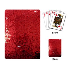 Sequin And Glitter Red Bling Standard Playing Cards