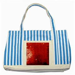 Sequin And Glitter Red Bling Blue Striped Tote Bag
