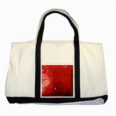 Sequin and Glitter Red Bling Two Toned Tote Bag