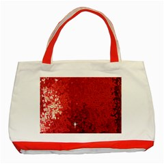 Sequin and Glitter Red Bling Red Tote Bag