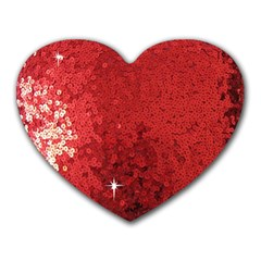 Sequin and Glitter Red Bling Mouse Pad (Heart)