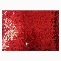 Sequin And Glitter Red Bling Twin Sided Handkerchief
