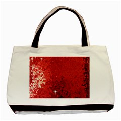 Sequin and Glitter Red Bling Twin-sided Black Tote Bag