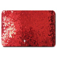 Sequin And Glitter Red Bling Large Door Mat