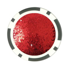 Sequin and Glitter Red Bling Poker Chip
