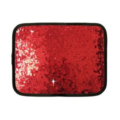 Sequin and Glitter Red Bling 7  Netbook Case