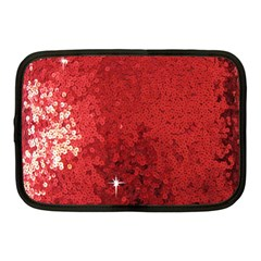 Sequin and Glitter Red Bling 10  Netbook Case