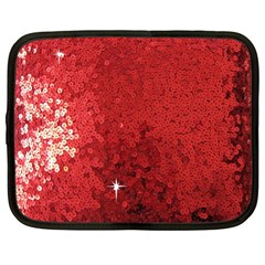 Sequin And Glitter Red Bling 12  Netbook Case