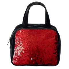Sequin and Glitter Red Bling Single-sided Satchel Handbag