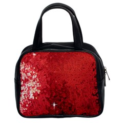 Sequin and Glitter Red Bling Twin-sided Satched Handbag