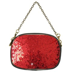 Sequin and Glitter Red Bling Single-sided Evening Purse