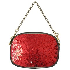 Sequin and Glitter Red Bling Twin-sided Evening Purse