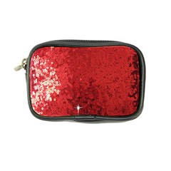 Sequin And Glitter Red Bling Ultra Compact Camera Case