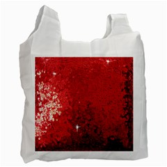 Sequin And Glitter Red Bling Single Sided Reusable Shopping Bag