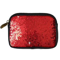 Sequin and Glitter Red Bling Compact Camera Case