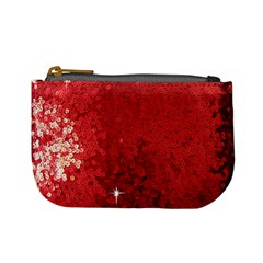 Sequin and Glitter Red Bling Coin Change Purse