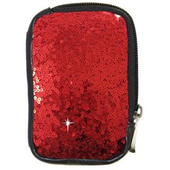 Sequin and Glitter Red Bling Digital Camera Case