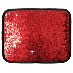 Sequin And Glitter Red Bling 15  Netbook Case