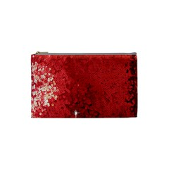 Sequin And Glitter Red Bling Small Makeup Purse
