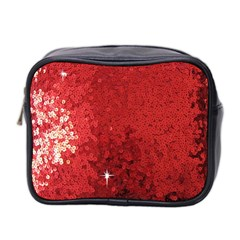 Sequin and Glitter Red Bling Twin-sided Cosmetic Case
