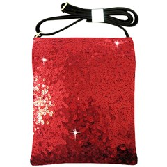 Sequin and Glitter Red Bling Cross Shoulder Sling Bag