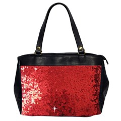 Sequin And Glitter Red Bling Twin Sided Oversized Handbag