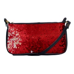 Sequin And Glitter Red Bling Evening Bag