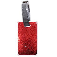 Sequin And Glitter Red Bling Twin Sided Luggage Tag