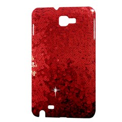 Sequin and Glitter Red Bling Samsung Galaxy Note Hardshell Case