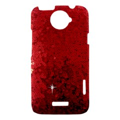 Sequin and Glitter Red Bling HTC One X Hardshell Case