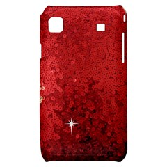 Sequin and Glitter Red Bling Samsung Galaxy S i9000 Hardshell Case