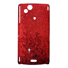 Sequin and Glitter Red Bling Sony Ericsson Xperia Arc Hardshell Case