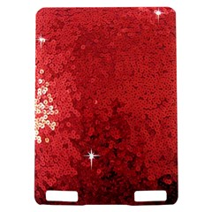 Sequin and Glitter Red Bling Kindle Touch 3G Hardshell Case