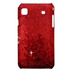 Sequin and Glitter Red Bling Samsung Galaxy S i9008 Hardshell Case