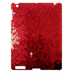 Sequin and Glitter Red Bling Apple iPad 3/4 Hardshell Case