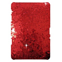 Sequin and Glitter Red Bling Samsung Galaxy Tab 10.1  P7500 Hardshell Case