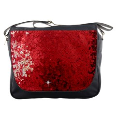 Sequin and Glitter Red Bling Messenger Bag