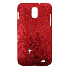 Sequin and Glitter Red Bling Samsung Galaxy S II Skyrocket Hardshell Case