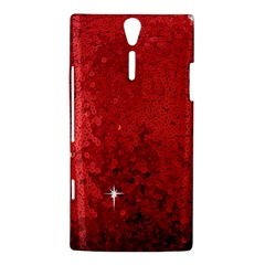 Sequin and Glitter Red Bling Sony Ericsson Xperia S Hardshell Case