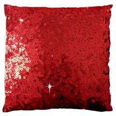 Sequin and Glitter Red Bling Large Cushion Case (Two Sides)