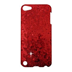Sequin And Glitter Red Bling Apple Ipod Touch 5 Hardshell Case