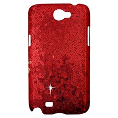 Sequin and Glitter Red Bling Samsung Galaxy Note 2 Hardshell Case