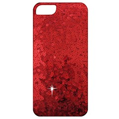 Sequin and Glitter Red Bling Apple iPhone 5 Classic Hardshell Case