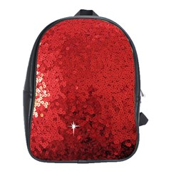 Sequin and Glitter Red Bling School Bag (XL)