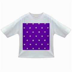 Royal Purple and Silver Bead Bling Baby T-shirt