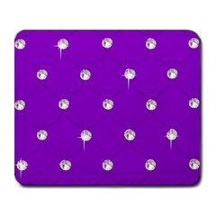 Royal Purple and Silver Bead Bling Large Mouse Pad (Rectangle)
