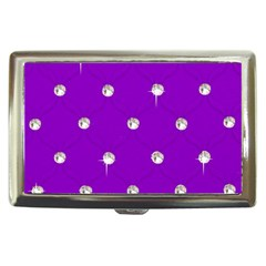 Royal Purple and Silver Bead Bling Cigarette Box