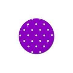 Royal Purple And Silver Bead Bling 10 Pack Golf Ball Marker