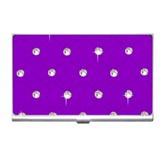 Royal Purple and Silver Bead Bling Business Card Holder