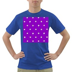 Royal Purple and Silver Bead Bling Colored Mens'' T-shirt